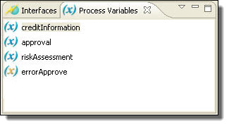 process variables view with fault variable