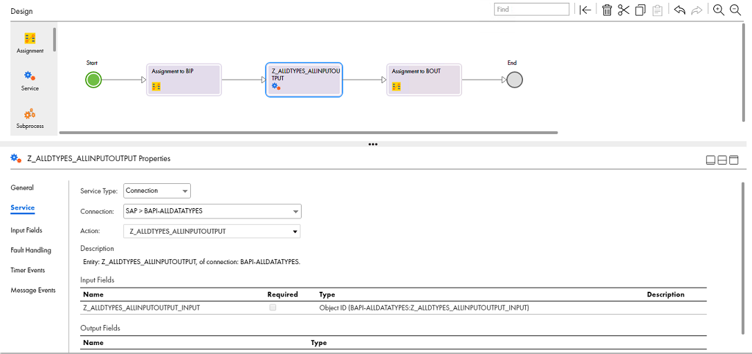 Step 4: Configure the BAPI Service Call