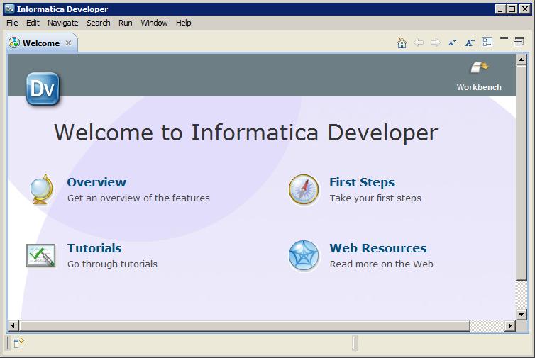 Step 1  Start Informatica Developer