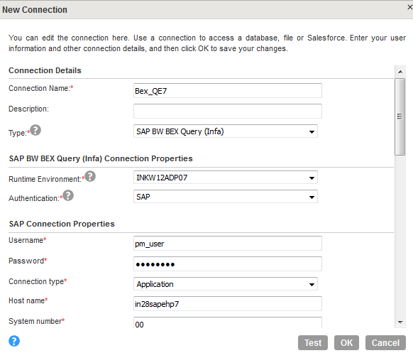 Mapping and Mapping Task Example with SAP BW BEx Query