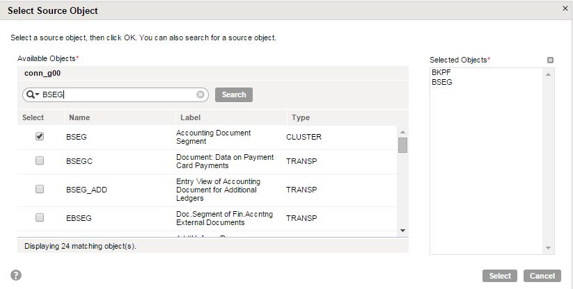 Step 2: Configure the SAP Table Source