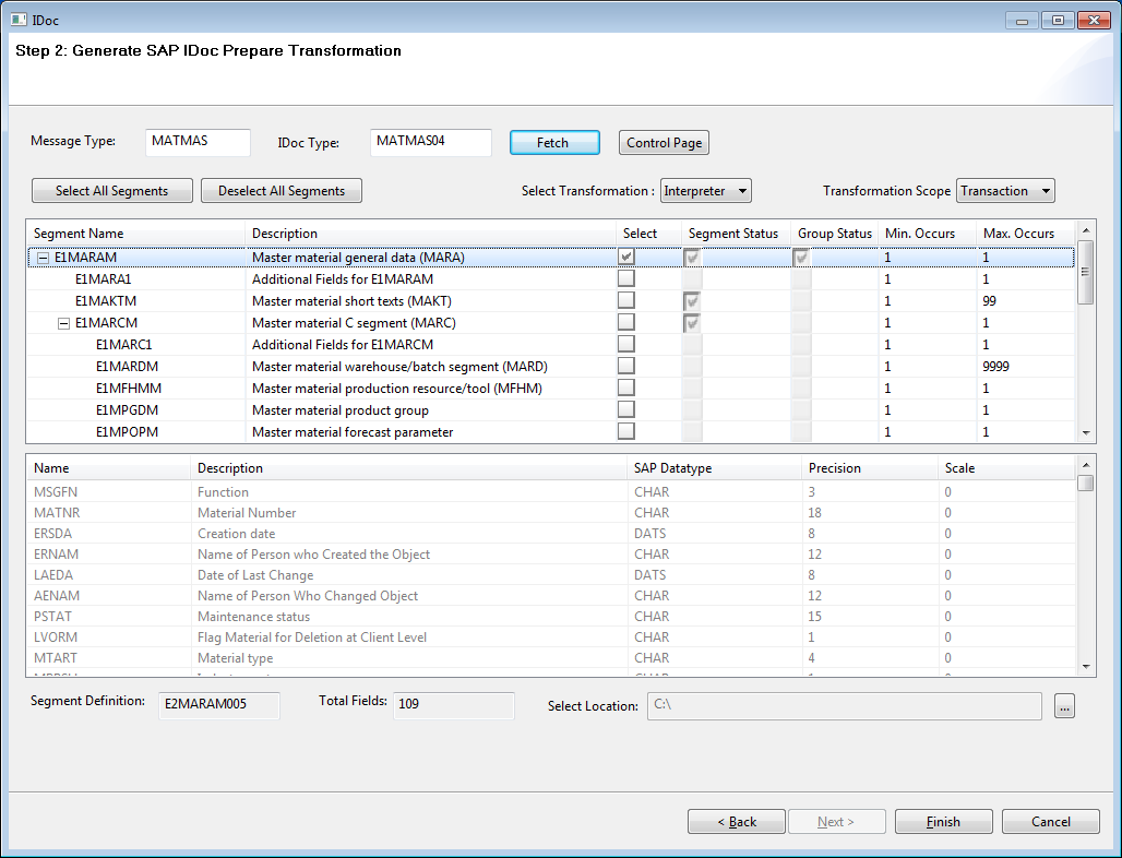 Step 1: Importing MATMAS IDoc Metadata