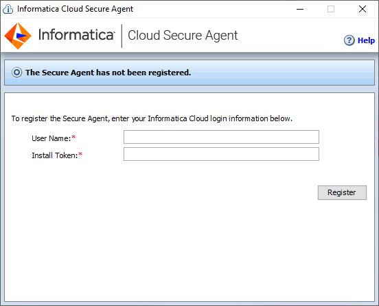 Downloading and installing the Secure Agent on Windows