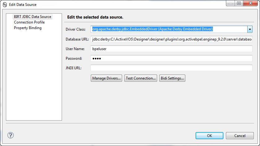 Using the Process Developer Data Source