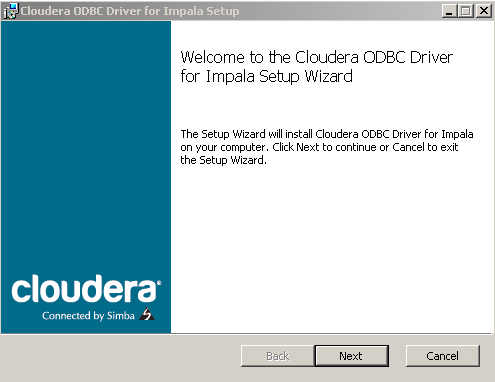 Step 2  Install the Cloudera ODBC Driver for Impala