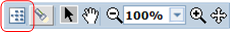 "The ""Switch to Detail"" button appears on the left side of the data lineage diagram toolbar."