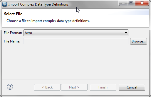 Importing a Complex Data Type Definition