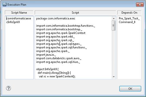 Spark Engine Execution Plan Details