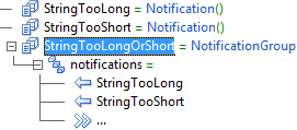 global level StringTooLong = Notification() global level StringTooShort = Notification() global level StringTooLongOrShort = Notification() level 2 notifications = level 3 StringTooLong level 3 StringTooShort level 3 ...