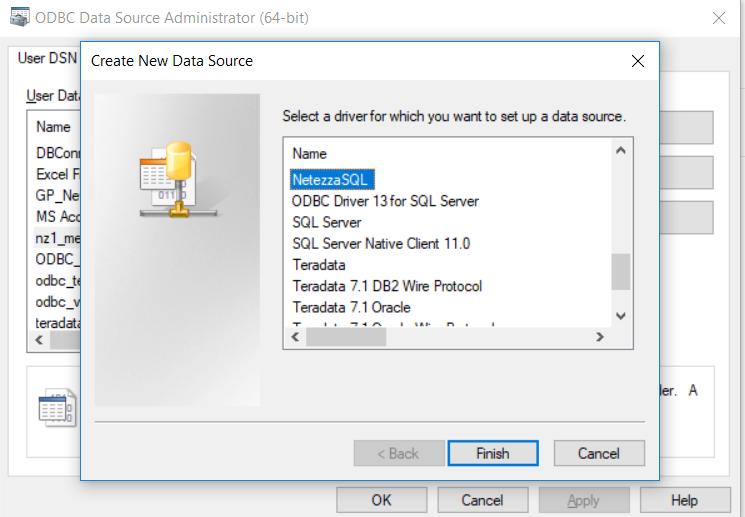 Configuring the Netezza ODBC Driver on Windows