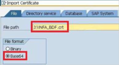 Importing the PSE Certificate in SAP and Exporting the SAP