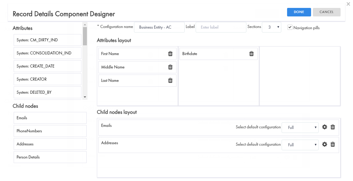 Designing a Business Entity View Layout
