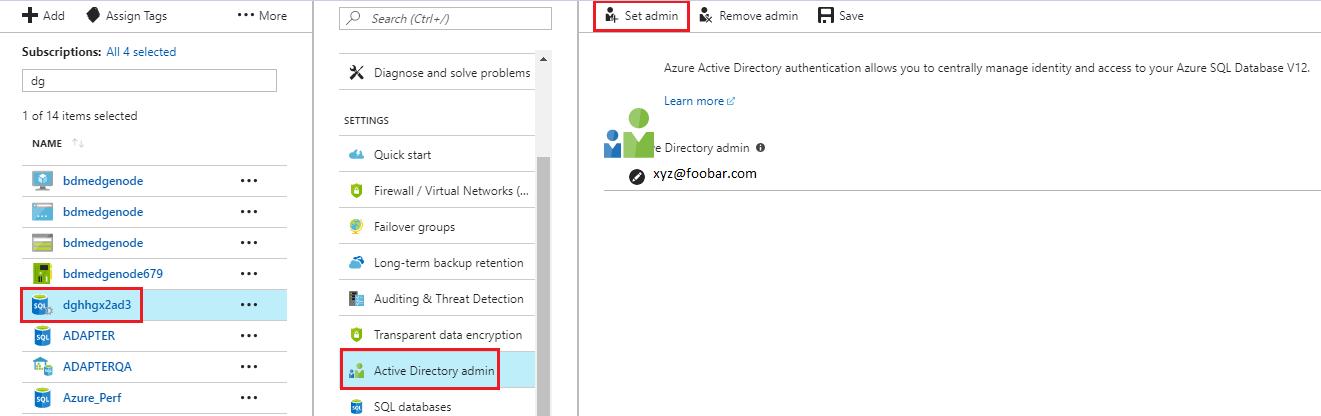 Azure Active Directory Authentication
