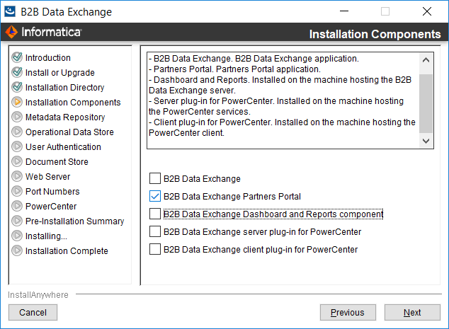 Installing the Partners Portal on Windows in Graphical Mode